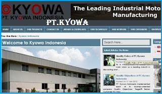 Lowongan Kerja SMK/SMA PT. KYOWA INDONESIA Paling Baru 2019