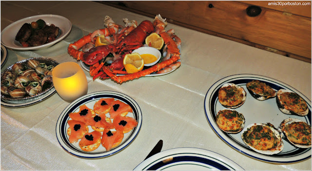 Nuestra Primera Cena de Noche Vieja en Boston