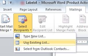Cara Mudah Membuat Label Undangan di Ms Word