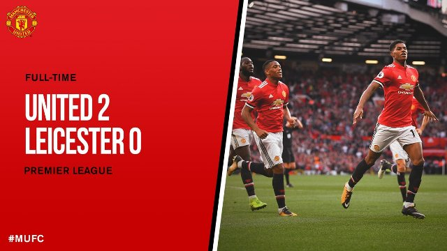 Video Cuplikan Gol Manchester United vs Leicester City 2-0