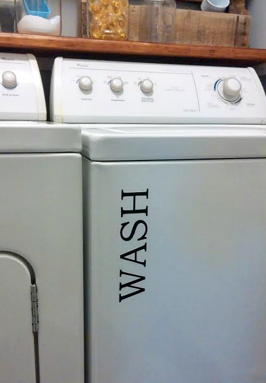 vinyl labels for washer and dryer