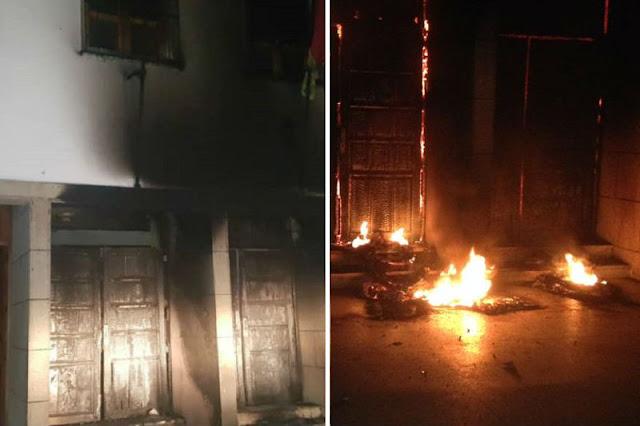 Lanzan molotov contra sede de la Alcaldía en protestas por falta de electricidad