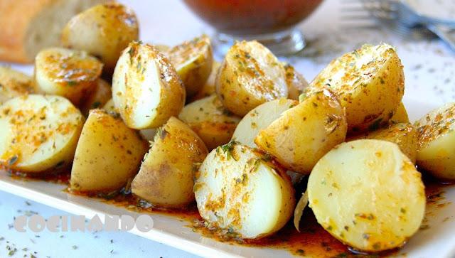 Patatas Con Salsa Chimichurri