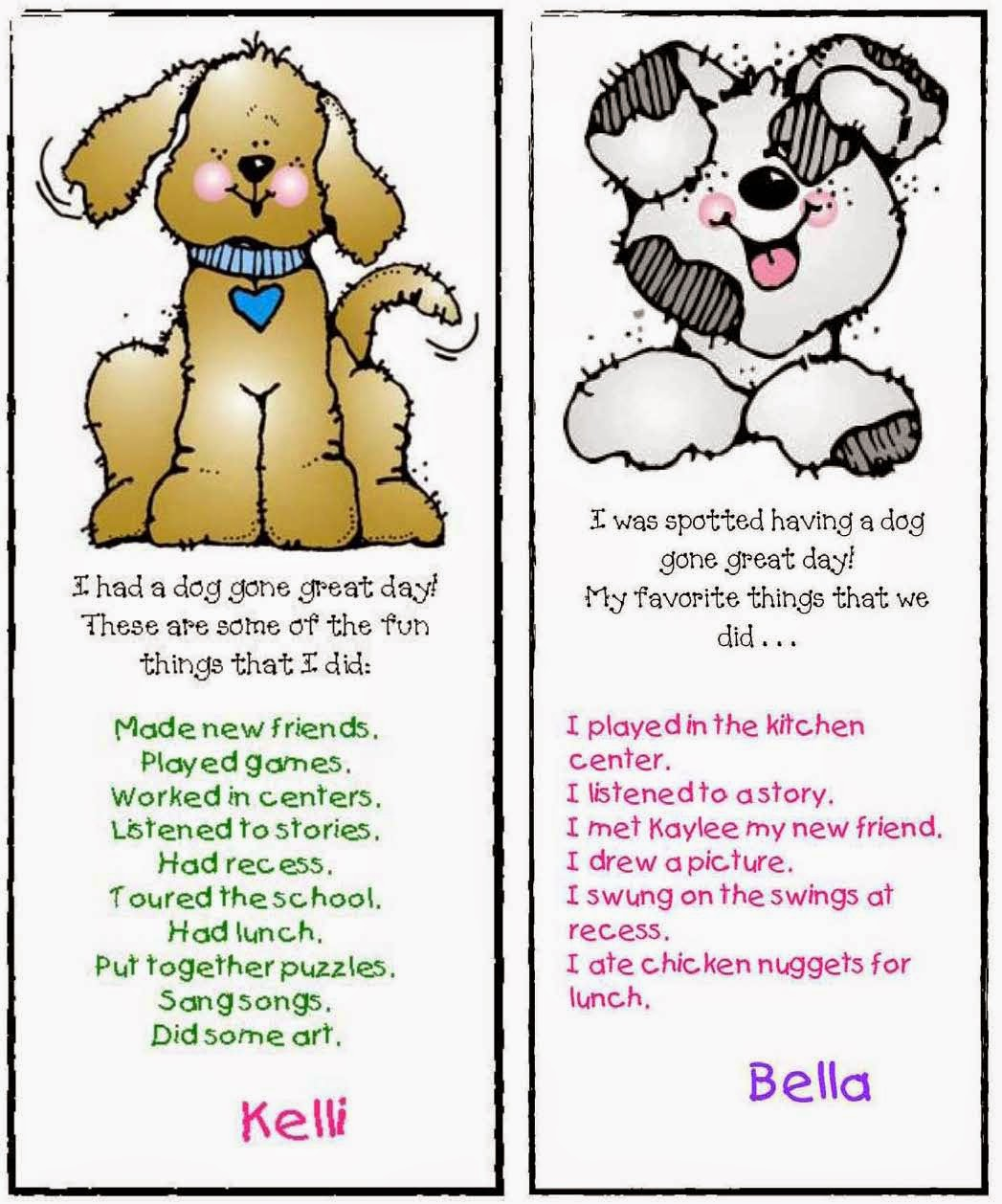Classroom Freebies Back To School Puppy Packet With Fun