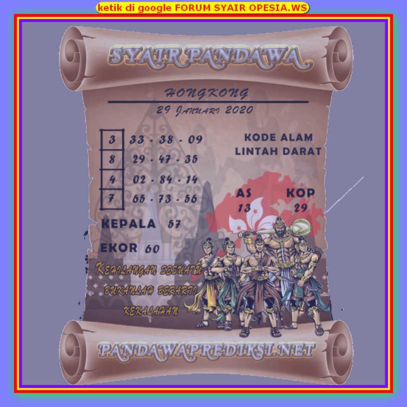 Kode syair Hongkong Rabu 29 Januari 2020 157