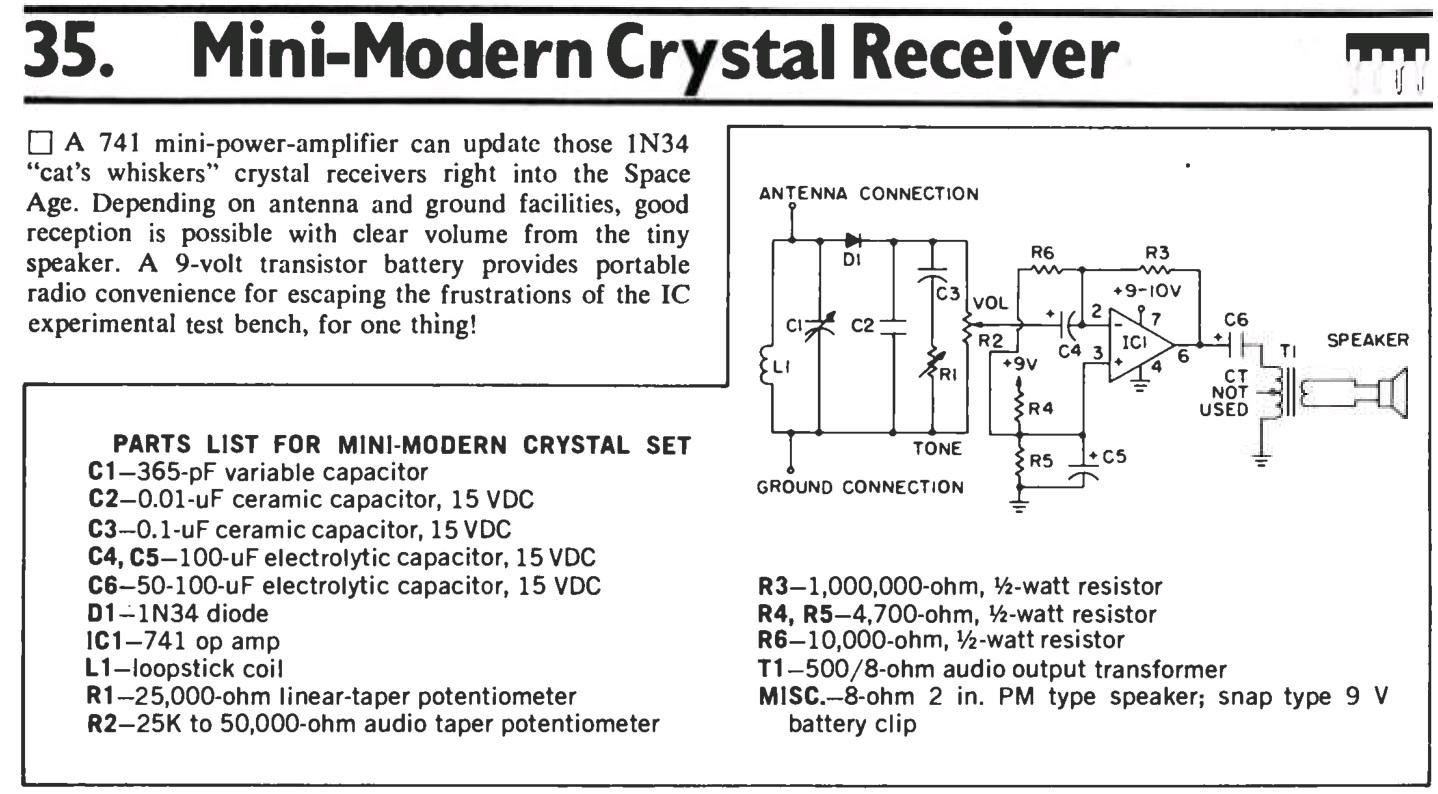 Radio Theory and design: 741 Op Amp radio