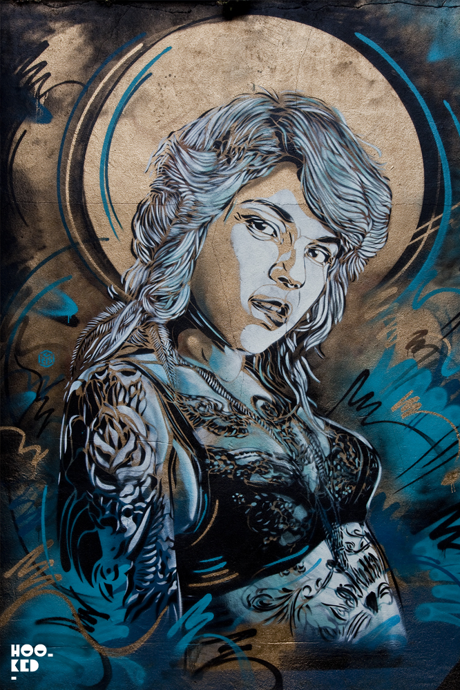 French artist C215's London Street Art Mural