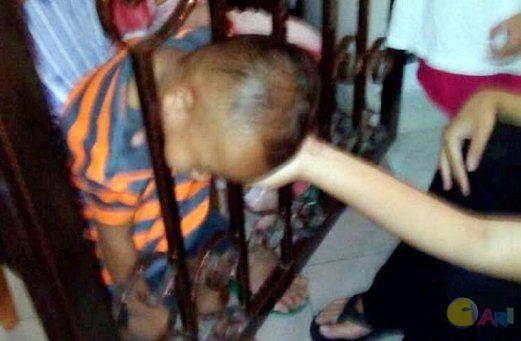 anak tersepit palang,aktiviti merbahaya anak-anak