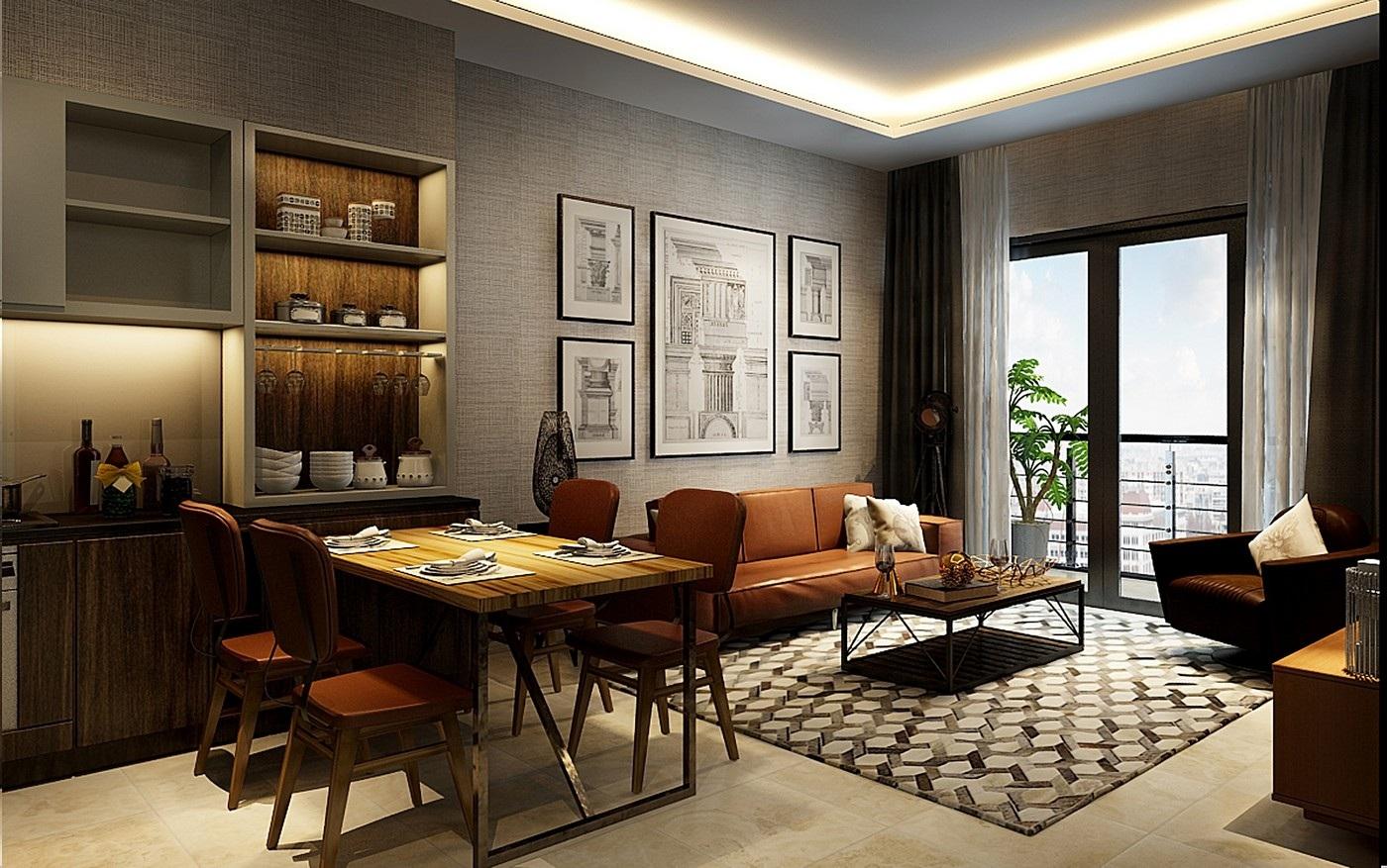 Mô phỏng căn hộ chung cư Sun Group Quảng An.