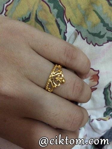 Cincin Emas Corak Crown Hasil Sideincome Nuffnang