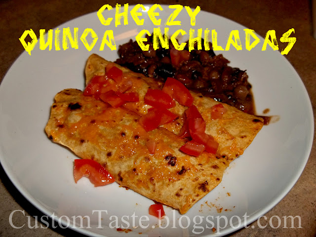 Cheezy Quinoa Enchiladas by Custom Taste