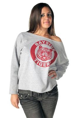 Bayside Tigers Off Shoulder Sweatshirt