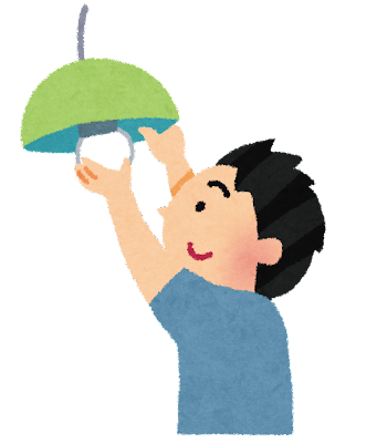 電球の交換のイラスト