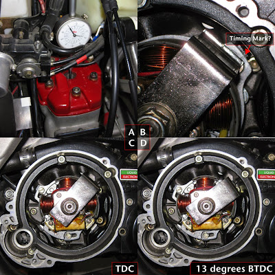 Cagiva Mito Electronic ignition system components