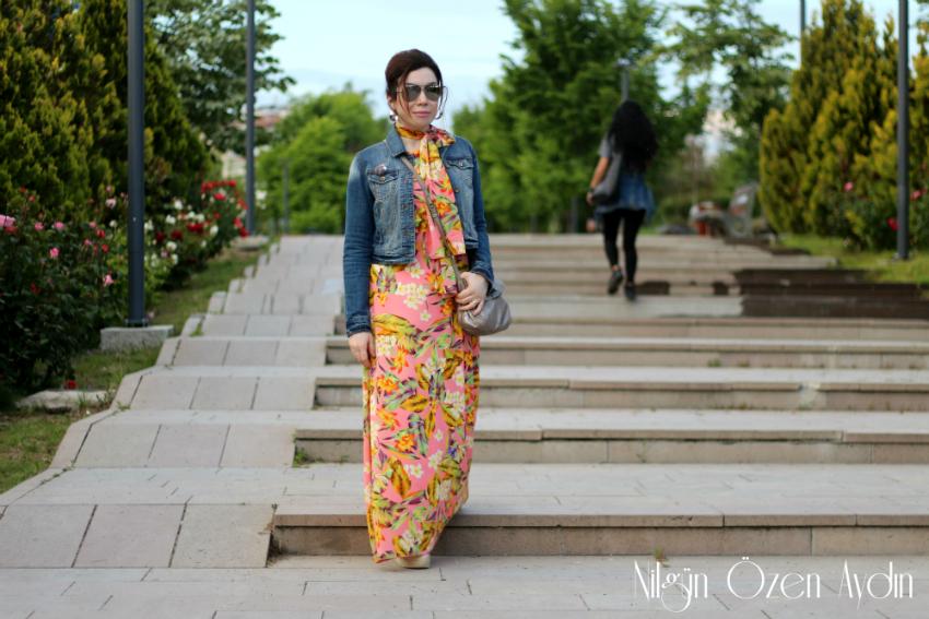 alışveriş-Çiçekli Maksi Boy Elbise-maksi boy elbiseler-moda blogu-moda blogları