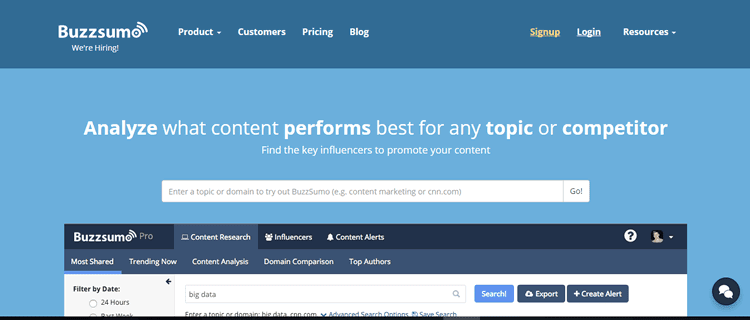 Use Buzzsumo to find the key influencers to promote your content