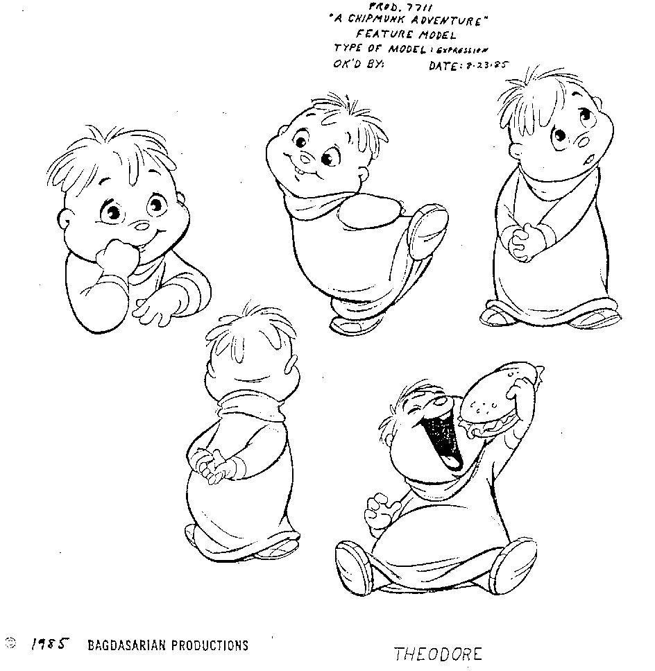 Books Coloring Pages: Alvin and the Chipmunks