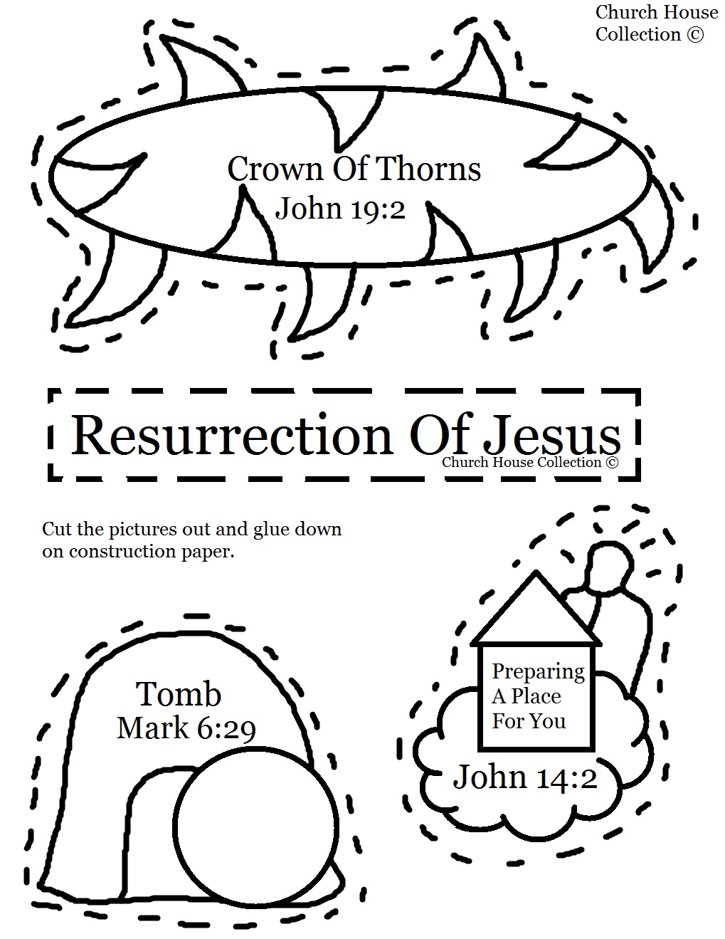 Church House Collection Blog: Resurrection of Jesus Cut Out Craft ...