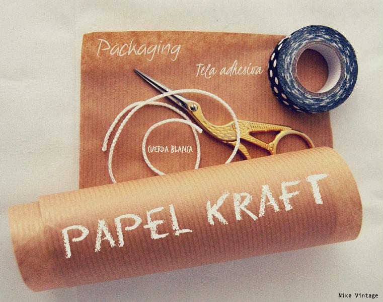 envoltorio, empaquetado, packaging, diy, tela adhesiva, papel kraft, regalo