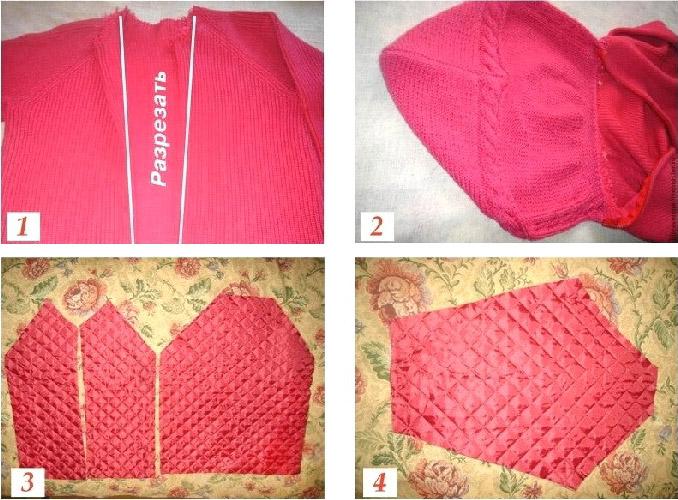 Полупальто из свитера