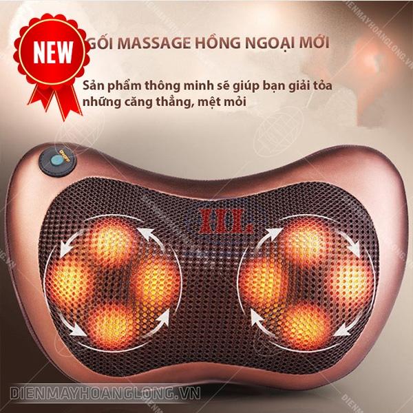 143k - Gối massage hồng ngoại 8 bi Hàn Quốc giá sỉ và lẻ rẻ nhất
