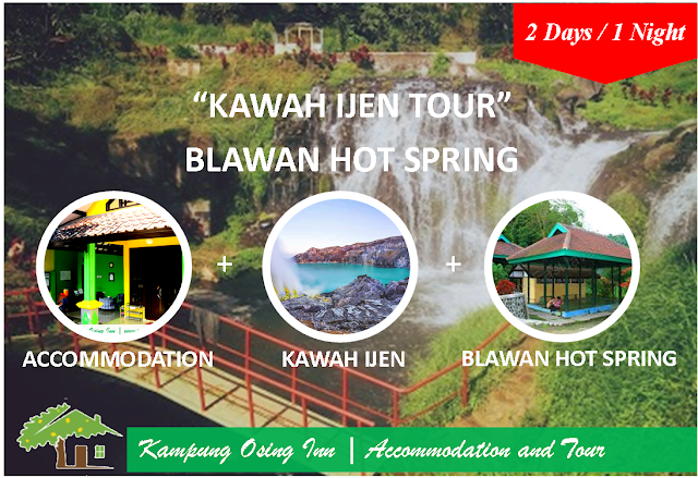 Kawah Ijen By Night Tour and Blawan Hotspring