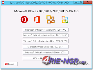 Microsoft Office 2003-2007-2010-2013-2016 AIO Full