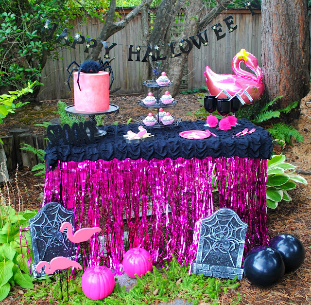 Be different this Halloween and add flamingo's to your party.