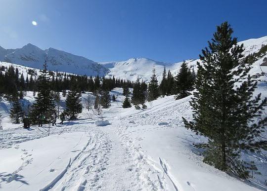 Na wprost przełęcz Liliowe.