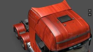 Red Wood Scania Skin