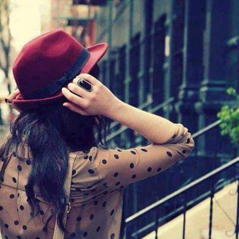 girl with hat Whatsapp Profile Picture, DP, Images Download