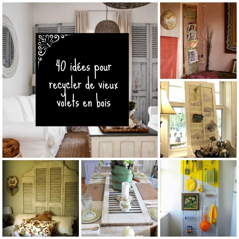 40 id es pour recycler de vieux volets en bois my. Black Bedroom Furniture Sets. Home Design Ideas