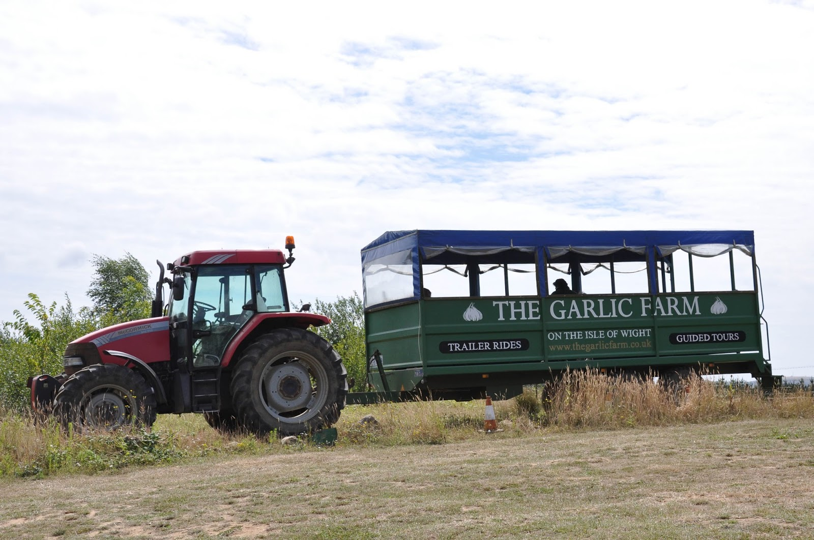 Tractor rides, The Garlic Farm, Isle of Wight, UK