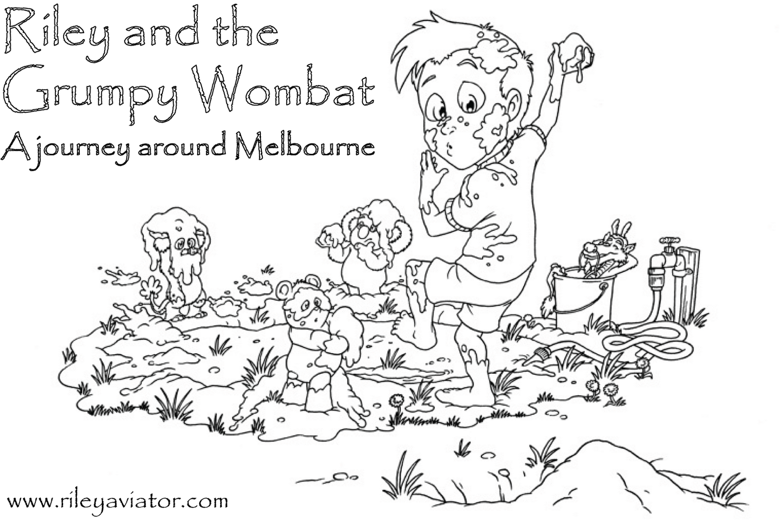 wombat mask coloring pages