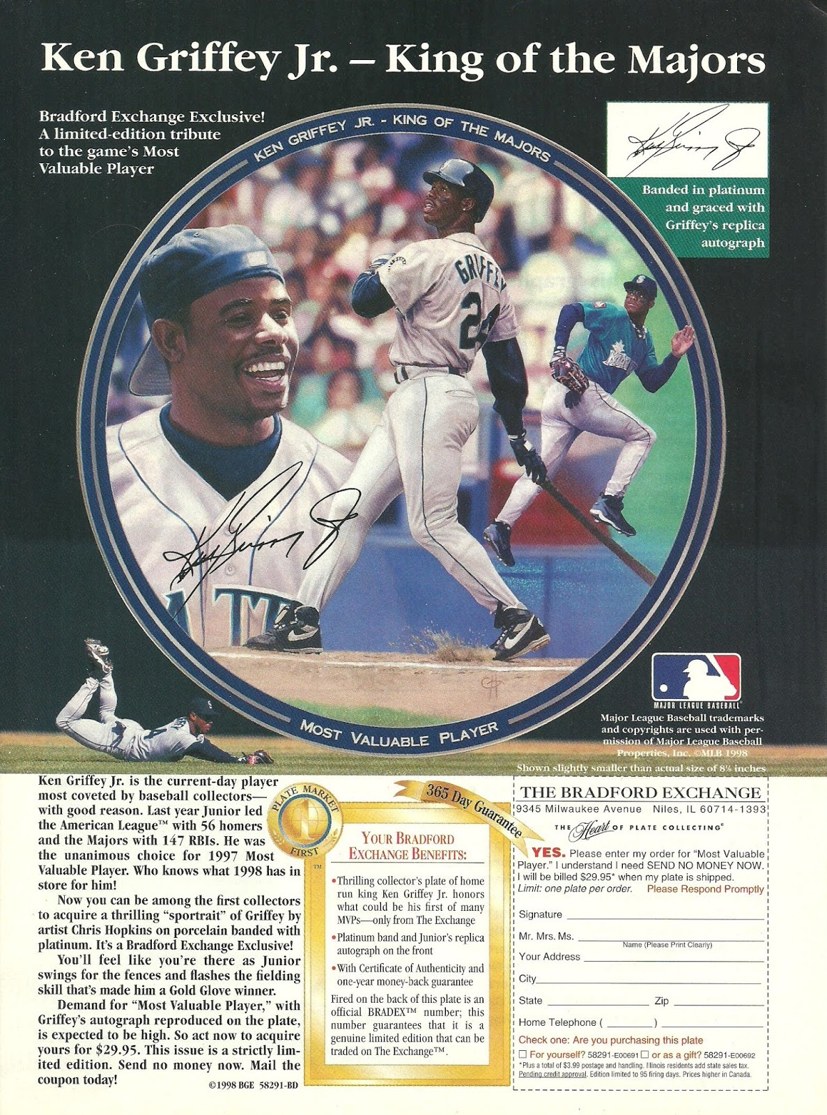 a4b14de3ed Keeping with the Griffey theme of the magazine, page 13 of the November 1998  issue of Beckett Baseball Card Monthly magazine features a full page ad for  a ...