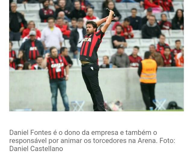 Atlético PR inova e vai manter empresa para animar jogos do.clube
