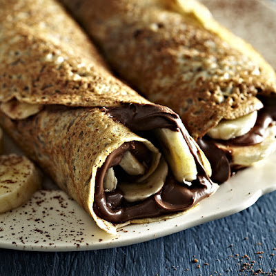 chocolate and banana pancake