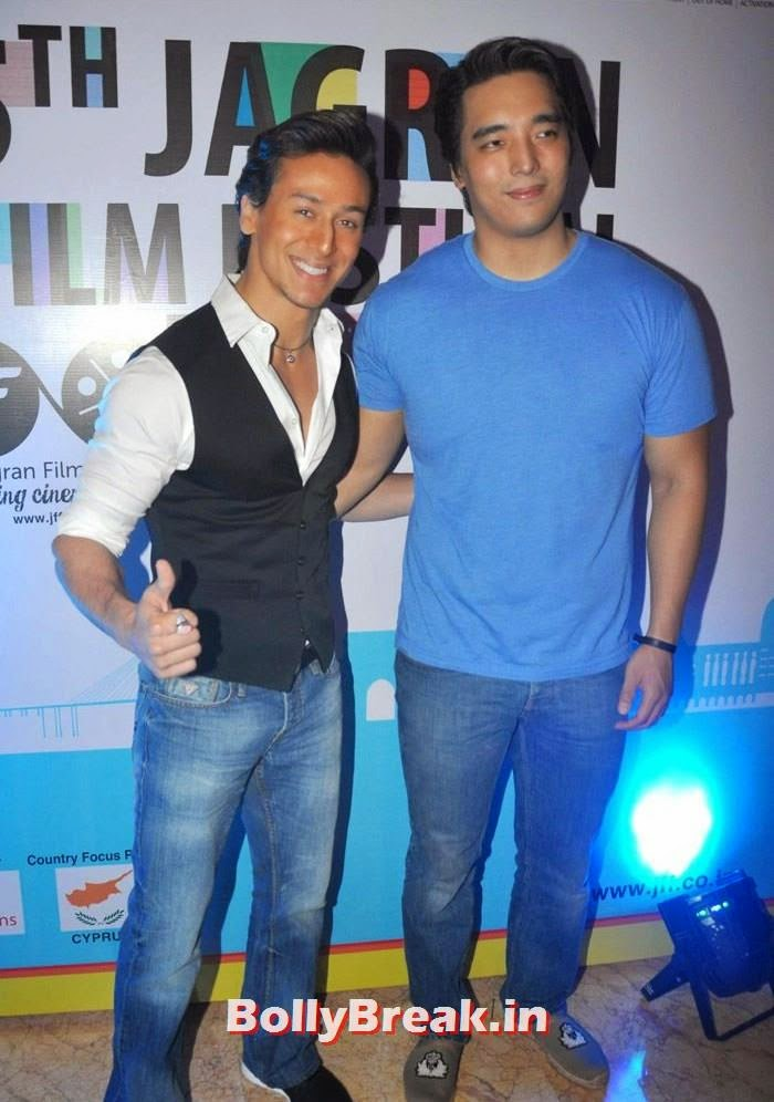 Tiger Shroff, Rinzing Denzongpa, 5th Jagran Film Festival Red Carpet Pics