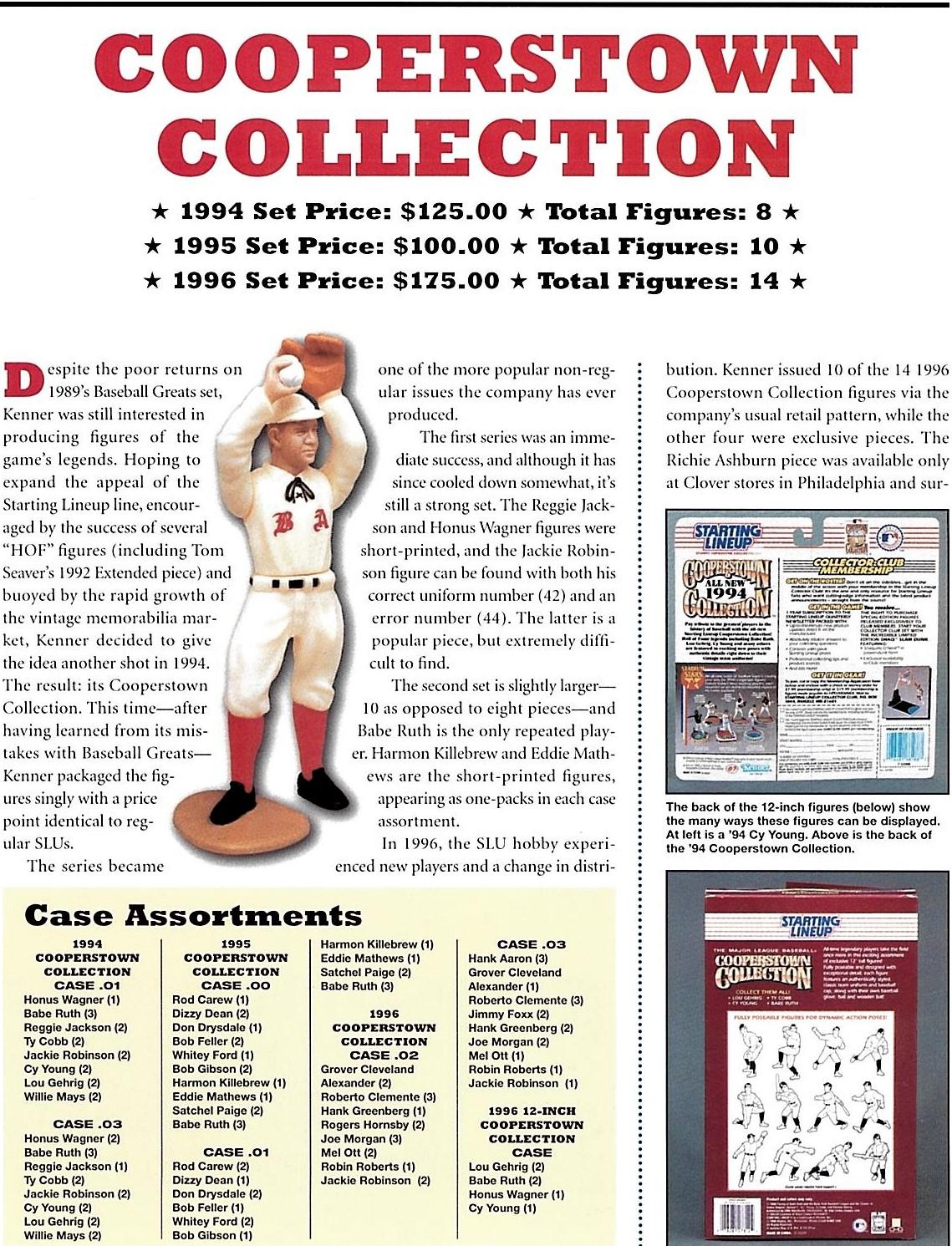 STARTING LINEUP SLU 1995 COOPERSTOWN COLLECTION BOB FELLER #13