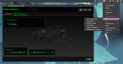 Razer Peripherals Configuration GUI Polychromatic 0.3.8 Released With Overhauled Tray / AppIndicator