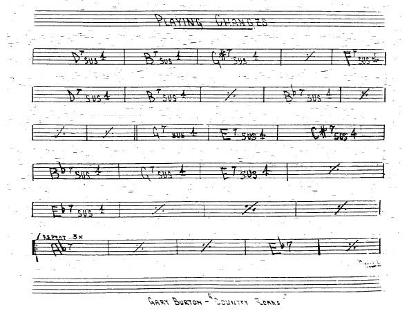 Partitura Trompeta Gary Burton