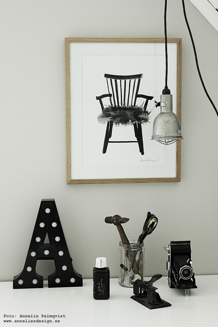 konsttryck, tavla, tavlor, pinnstol, stol, pinnstolar, print, prints, svart och vitt, annelies design, webbutik, webbutiker, webshop, inredning, blogg, arbetsrum, arbetsrummet, hemmakontor, ateljé, bokstavslampa, bokstavslampor, bygglampa, bygglampor, lampa, lampor, plakat, plakater, nettbutikk, nettbutikker, trären ram, ramar,
