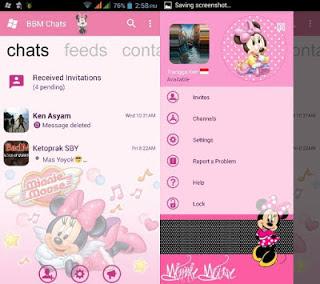 bbm modifikasi minni mouse pink