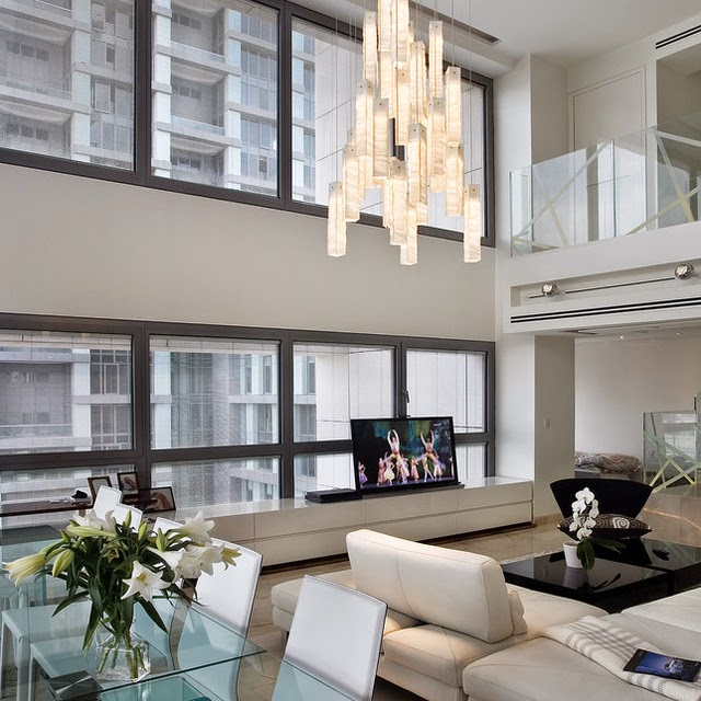 Chandelier Living Room Lighting Designs Apartment