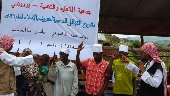 إسلام 48 شخصا في دولة بوروندي عبر قافلة التعريف بالإسلام