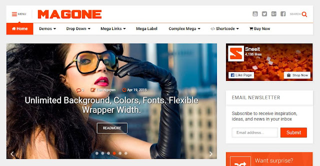 MagOne - Responsive Blogger Template