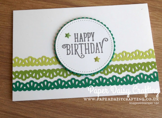 Decorative ribbon border punch by Stampin Up