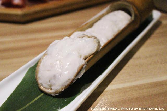 Handmade Cuttlefish Starch 手滑花枝漿 at 大師兄麻辣鍋物 in Taiwan