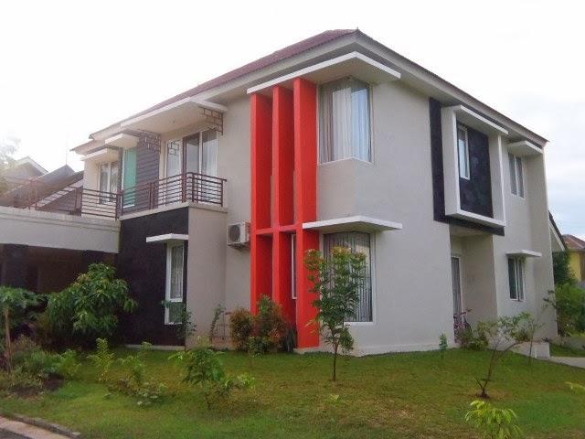 kombinasi cat rumah warna hijau