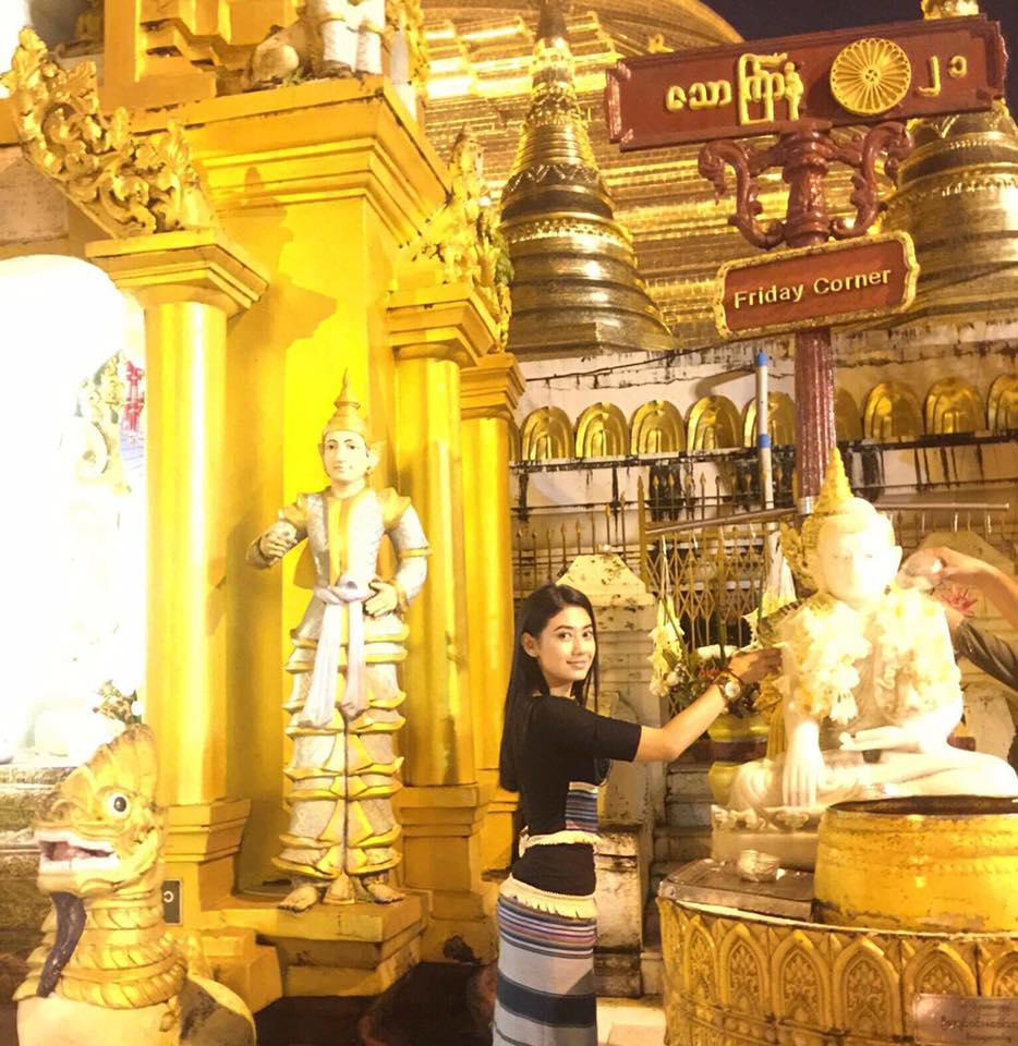Thinzar Wint Kyaw Spending Her Peaceful Time At Shwedagon Pagoda